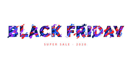Black Friday - text in paper cut style isolated on white background. Lettering for banner, poster, flyer, invitation. Sale event, vector illustration. 向量圖像
