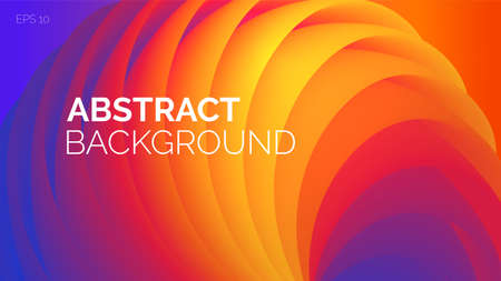 Vibrant 3d abstract vector background. Multicolored Landing page in rainbow colors. Bright shapes, flow banner, brochure, web page. 向量圖像
