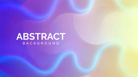 Bright vector illustration. Wavy and colorful abstract background. Bright fluid shapes, flow banner, brochure, web page. 向量圖像