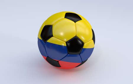 bandera de colombia: Bandera de Colombia en la pelota de f�tbol