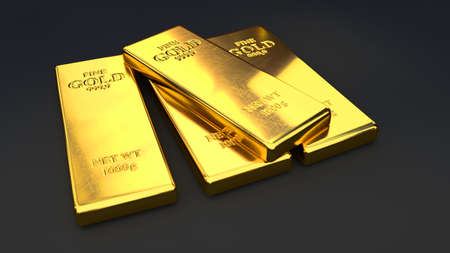 gold bars: Gold bars Stock Photo