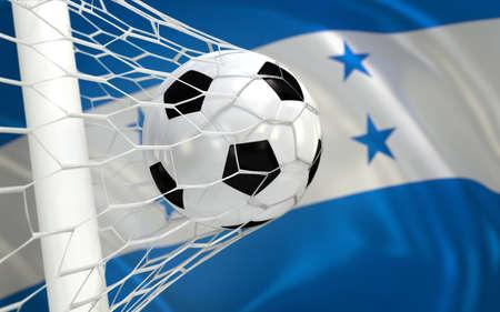 bandera honduras: Bandera de Honduras y el f�tbol en red de la porter�a