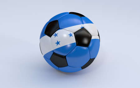 bandera honduras: Bandera de Honduras en la pelota de f�tbol