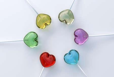 lollipops: Piruletas de caramelo Coraz�n