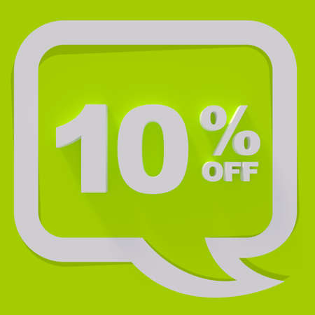 sale sign: Sale sign, white letters on green background