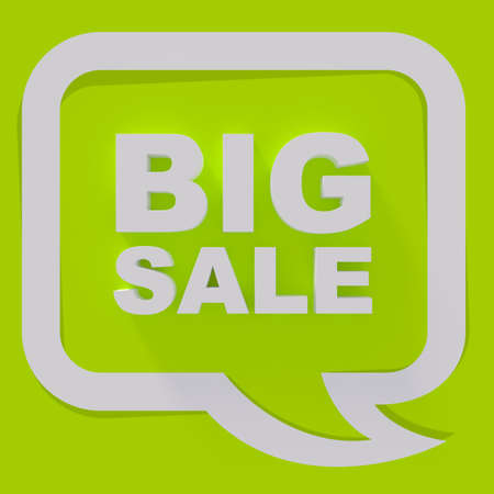 sale sign: Big sale sign, white letters on green background