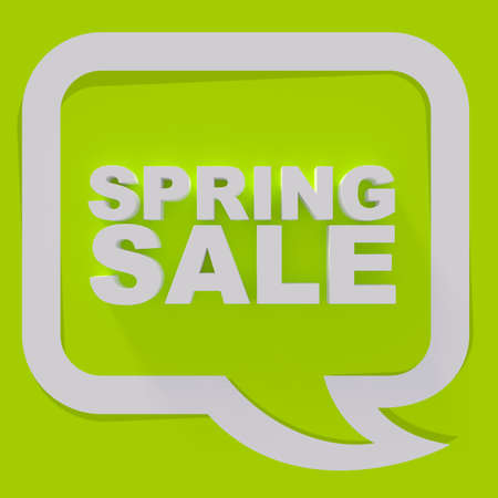 sale sign: Spring sale sign, white letters on green background