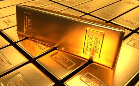 ingot: Gold bars, ingot Stock Photo