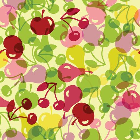 semitransparent: seamless illustration with semitransparent fruit, seamless pattern, background