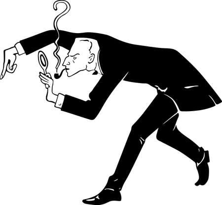 mr: Mr. Sherlock Holmes looking through a loupe