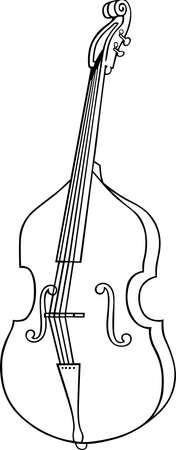 cellist: One musical instrument cello  Illustration