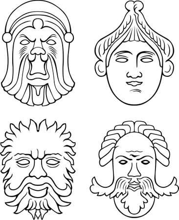 humoristic: Theatrical masks