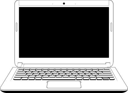 endlessness: White notebook computer isolated