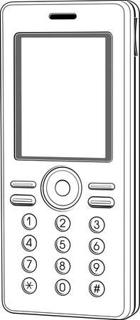 Mobile phone Stock Vector - 10285840