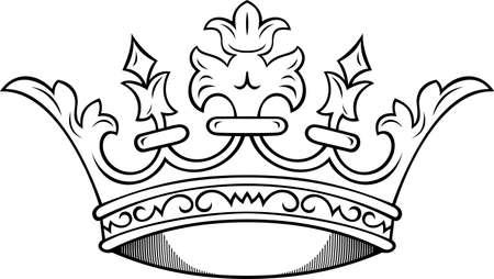 Kroon Vector Illustratie