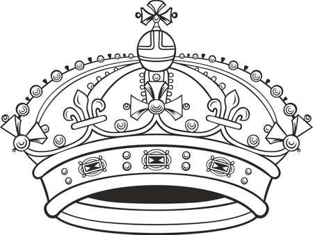 Corona on white background Vector