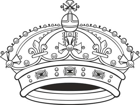 the corona: Corona on white background