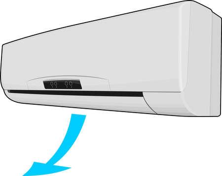 Climatisation isolé sur blanc