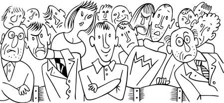 concert audience: Audience  Illustration