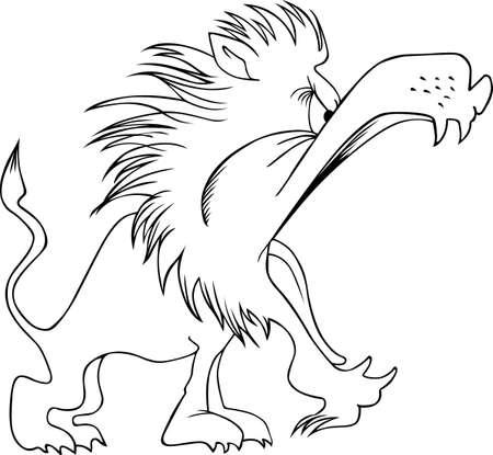 rey caricatura: León rey de los animales en blanco Vectores