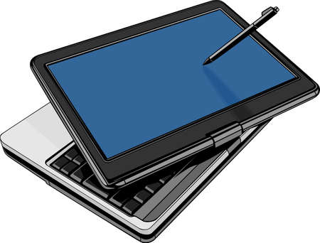 Notebook computer isolated on white