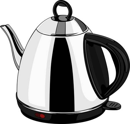 Electric kettle on white Stock Vector - 10308885