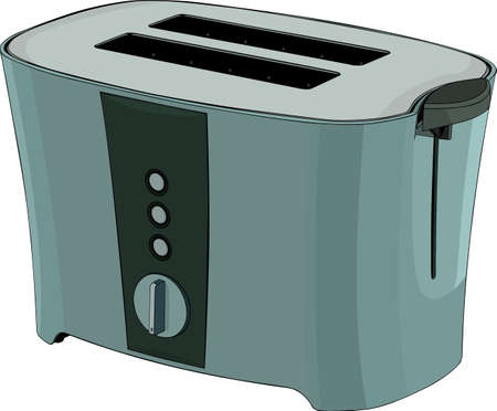 Green toasting oven on white Stock Vector - 10303681