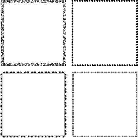 cadre noir et blanc: Cadres d�coratifs sur fond blanc