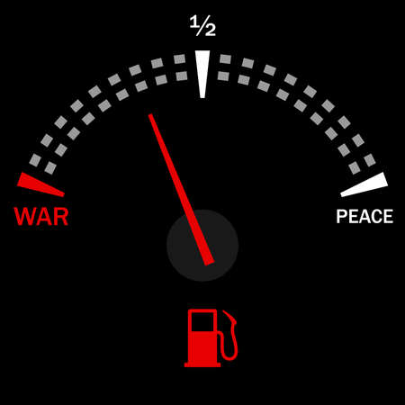 Speedometer for war and peace on black  Stock Vector - 10311360