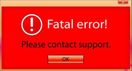 fatal: Computer window with fatal error