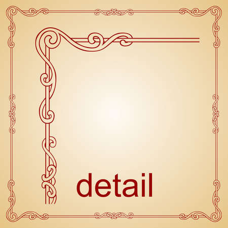 art deco background: Decorative frame
