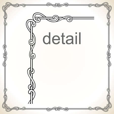 Decorative frame  Stock Vector - 10314435
