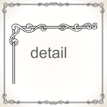 Decorative frame  Stock Vector - 10314433