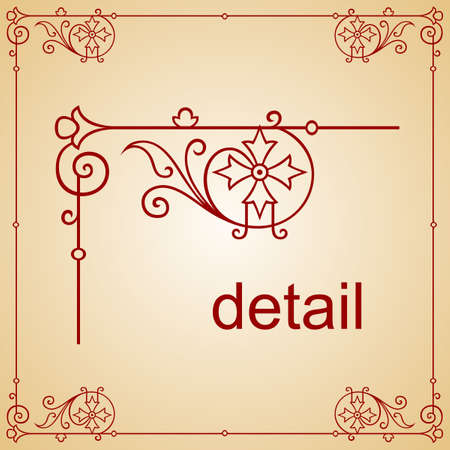Decorative frame  Stock Vector - 10313623