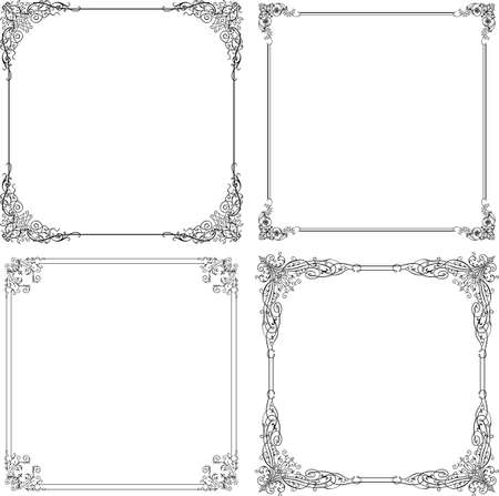 corner ornament: Elegance frames on white