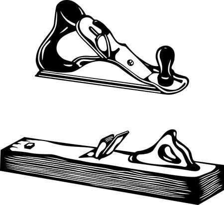 白で隔離される 2 つのベンチの平面  イラスト・ベクター素材