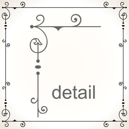 marco blanco y negro: Marco decorativo