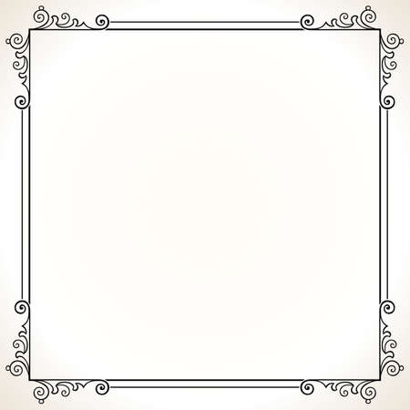 ornamental frame: Elegance frame on white