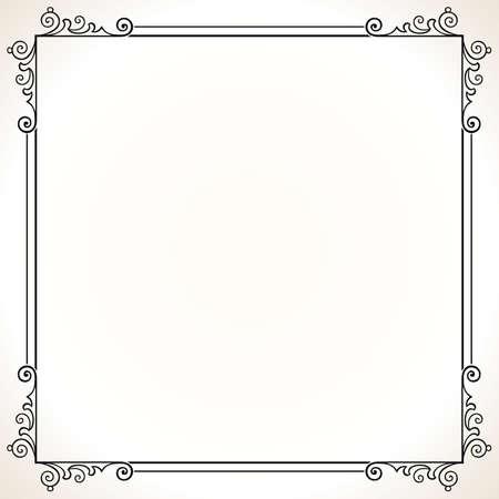 Elegance frame on white Stock Vector - 10303655