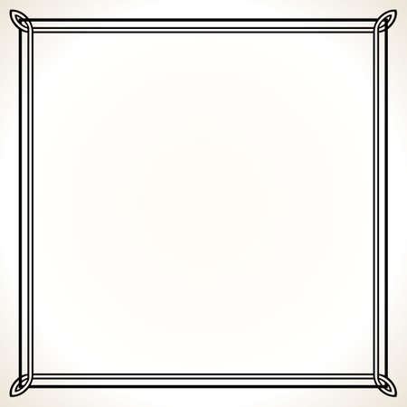 Elegance frame on white Stock Vector - 10303629