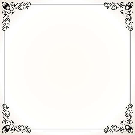 Elegance frame on white