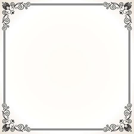 floral corner: Elegance frame on white