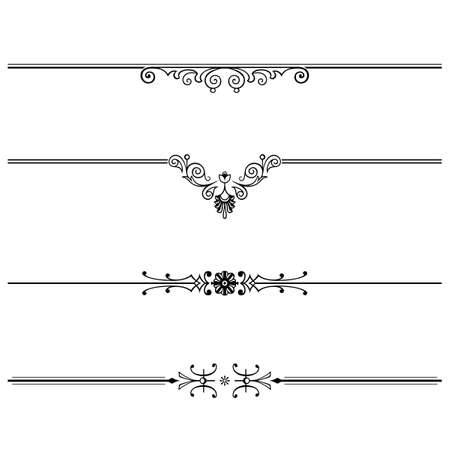 floral tracery:  Elegance  floral ornaments on white