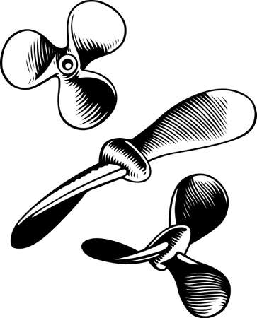 Propellers on white