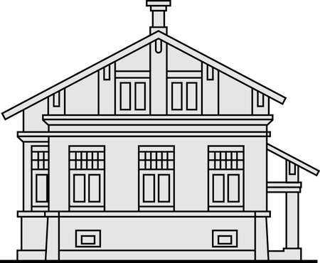 Building on white Stock Vector - 10322399