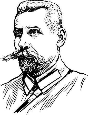 Portrait on white Stock Vector - 10322416