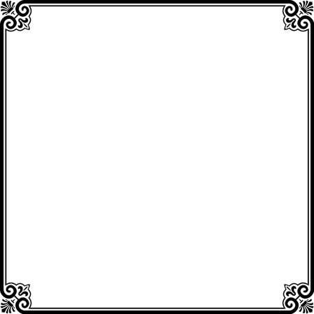 marco blanco y negro: Marco sencillo en blanco Vectores