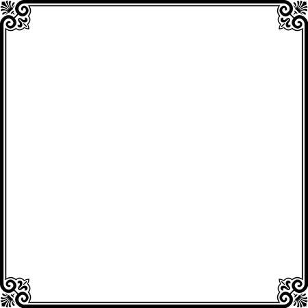 corner border:  Simple frame on white