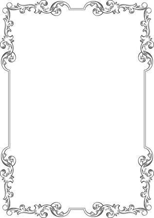 label frame: Elegance frame on white