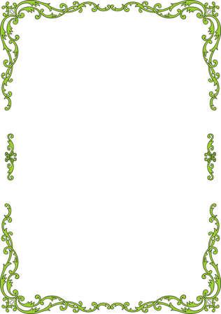 floral border frame: Elegance frame on white